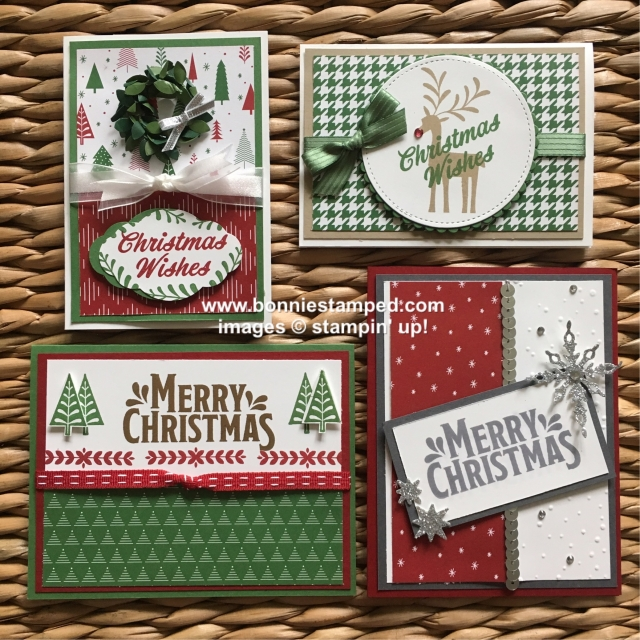 #christmascardclub #holidaycards #bonniestamped #stampinup #merrymistletoe