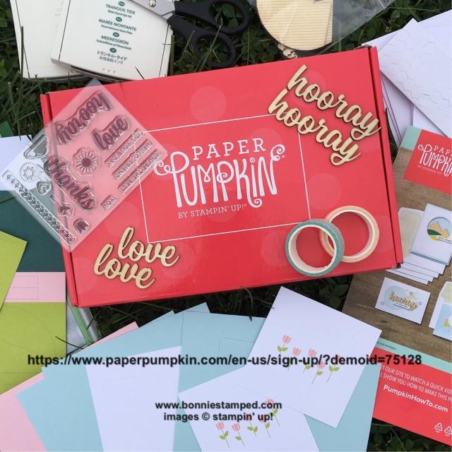 #paperpumpkin #bonniestamped #stampinup #monthlykits