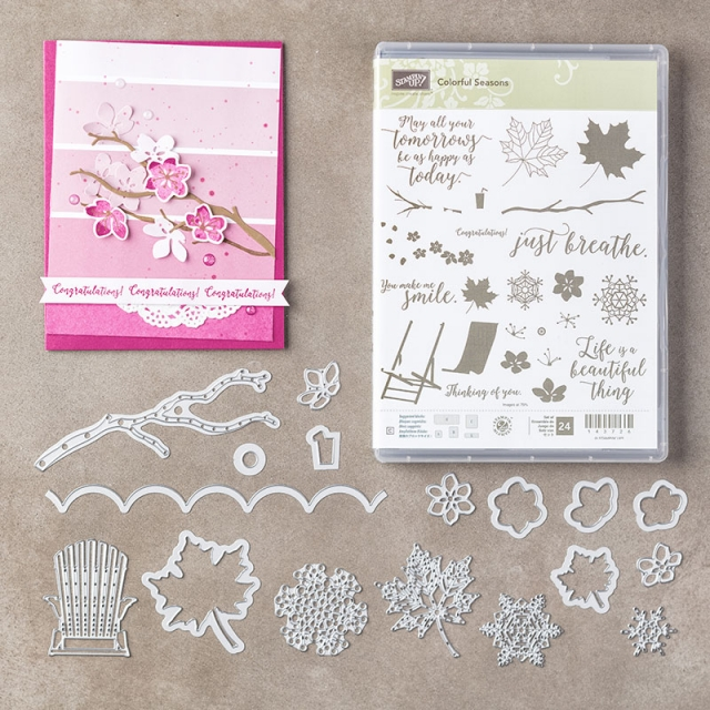 #colorfulseasons #bundle #stamps #seasonallayersthinlits