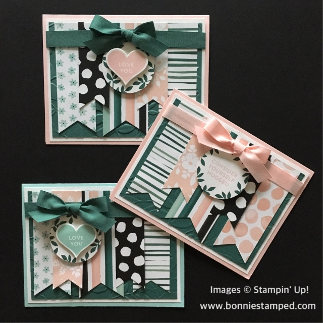 #awholelotoflovely #productsuite #bonniestamped #stampinup #lotsoflove #DSP #ribbon
