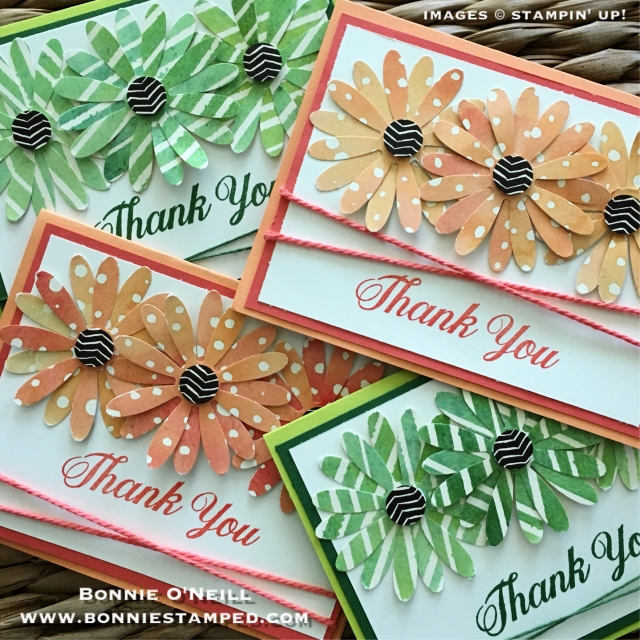 #paintedautumn #newproduct #sneakpeek #daisydelight #daisypunch #thankyou #cards #bonniestamped #stampinup