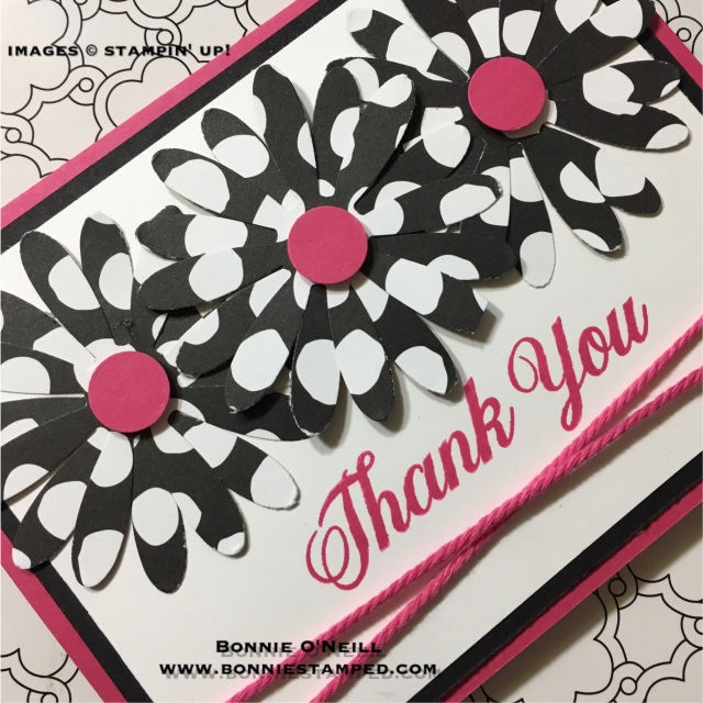 #daisydelight #boldpattern #bonniestamped #thankyoucards