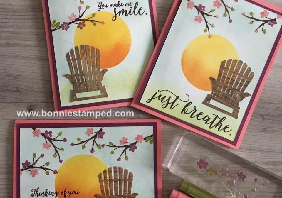 Colorful Seasons Bundle creates a beautiful card!