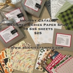 Holiday Catalog Designer Series Paper Split!
