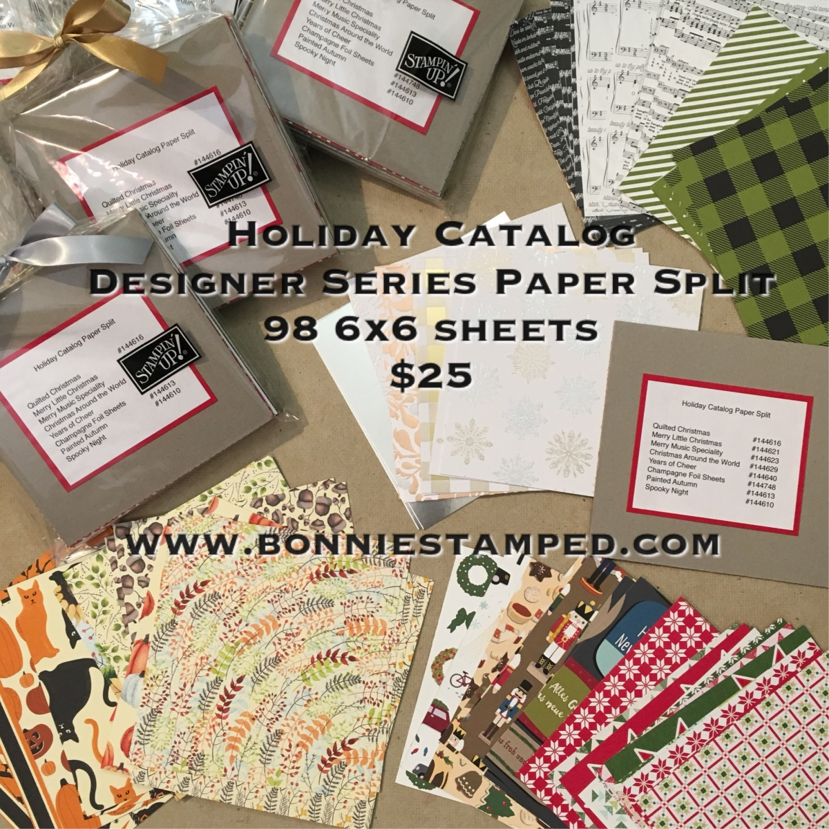 Designer Catalog: Holiday Catalog Designer Series Paper Split! • Bonnie Stamped