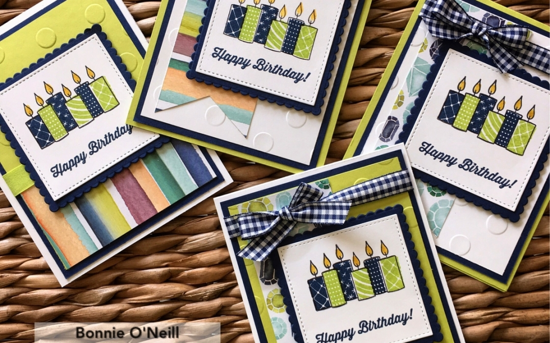 Merry Patterns for Birthday Cards!