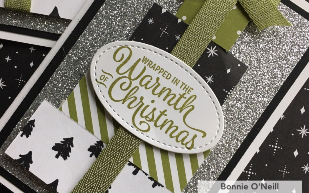 Adding bling to Christmas Club Note Cards