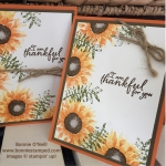 Sunflower Cards with the Painted Harvest Stamp Set