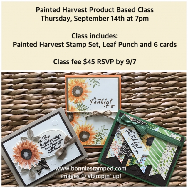 #paintedharvest #bonniestamped