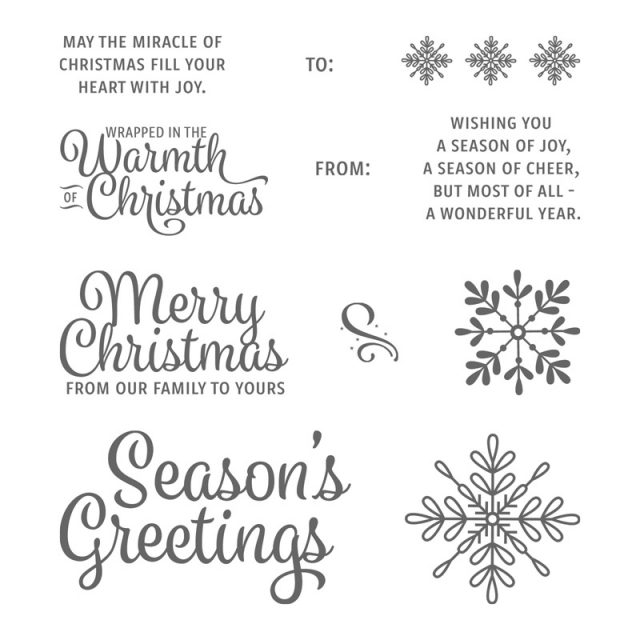 #snowflakesentiments #stamps #bundle #stampinup