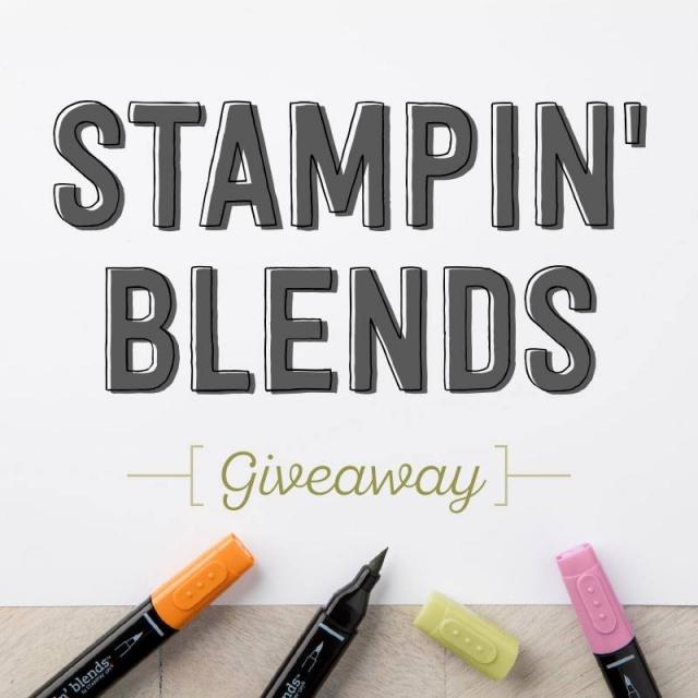 #stampinblends #stampinup #giveaway