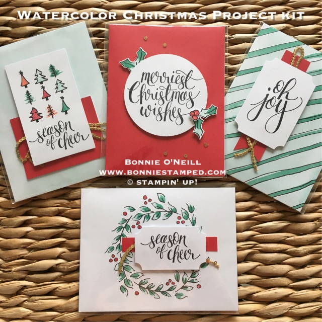 #watercolorchristmas #projectkit #bonniestamped