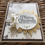 Foil Snowflakes on Holiday Cards