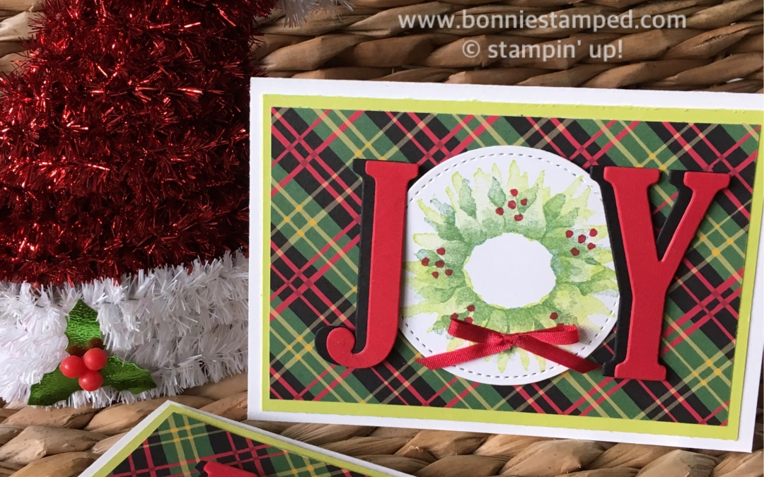 Holiday Stamp-a-Stack Joy Note Card