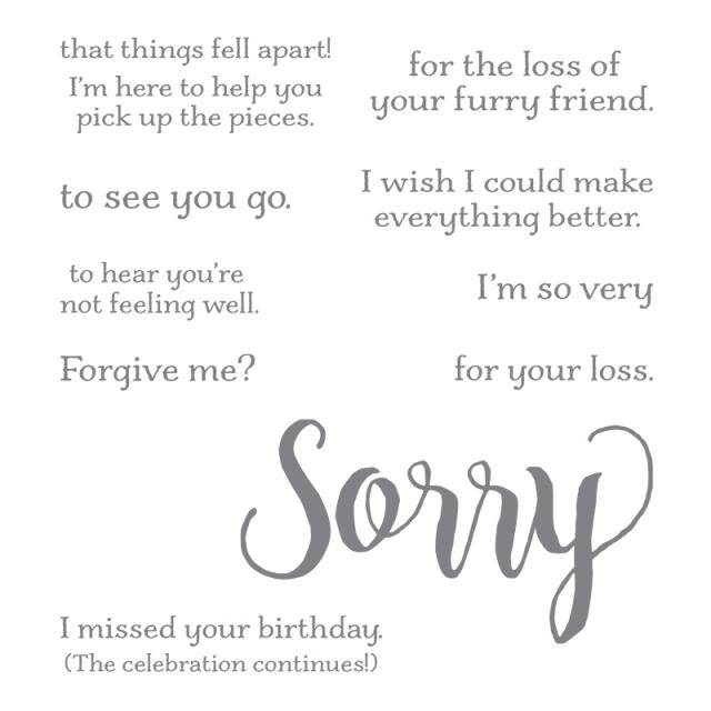 #sorryforeverything #bonniestamped #stampinup