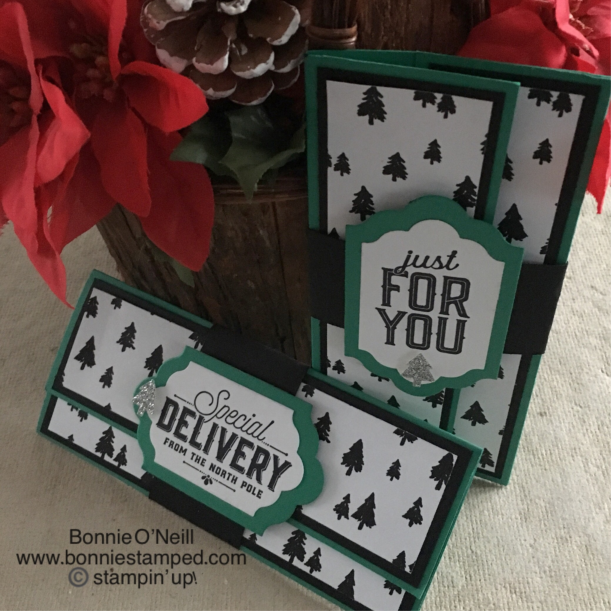 merry little christmas money holder • bonnie stamped