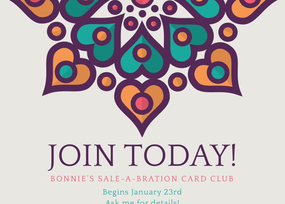 Bonnie's Sale-a-bration Card Club!