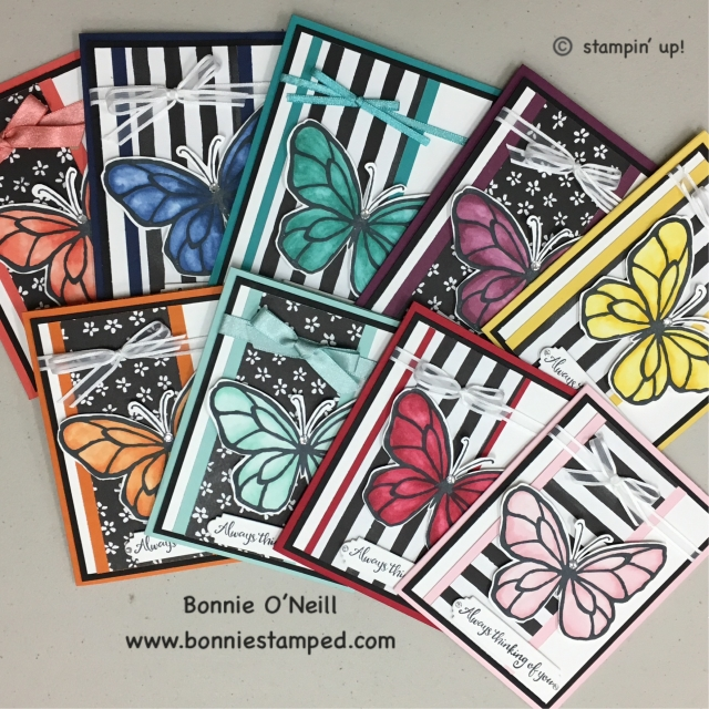 #beautifulday #bonniestamped #stampinup #stampinblends