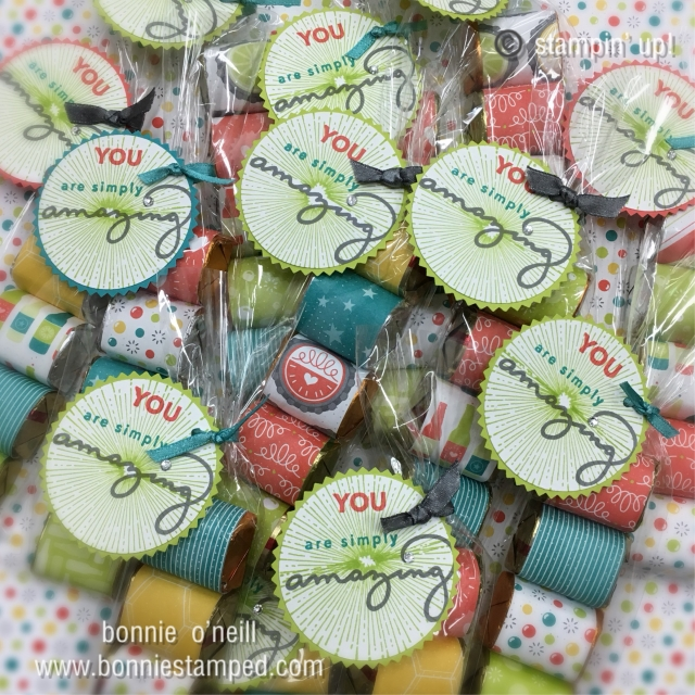 #saleabrationtreats #stampinup #bonniestamped #treats