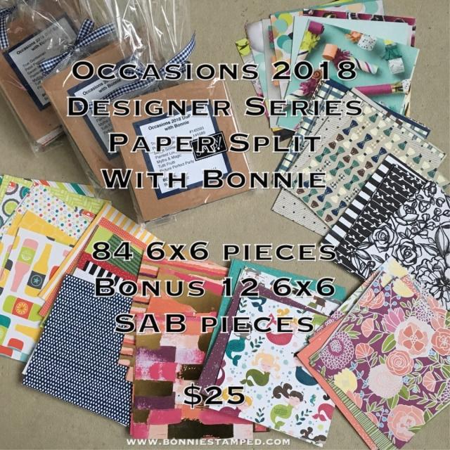 #bonniestamped #designerseriespaper #occasions2018