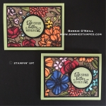 Petal Passion Designer Series Paper colored with Stampin' Blends