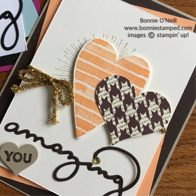 #hearthappiness #saleabration #amazingyou #stampinup #bonniestamped