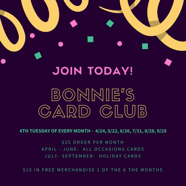 #bonniestamped #cardclub #stampinup