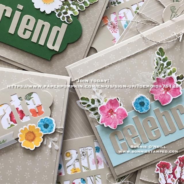 #paperpumpkin #wildflowerwishes #bonniestamped #stampinup