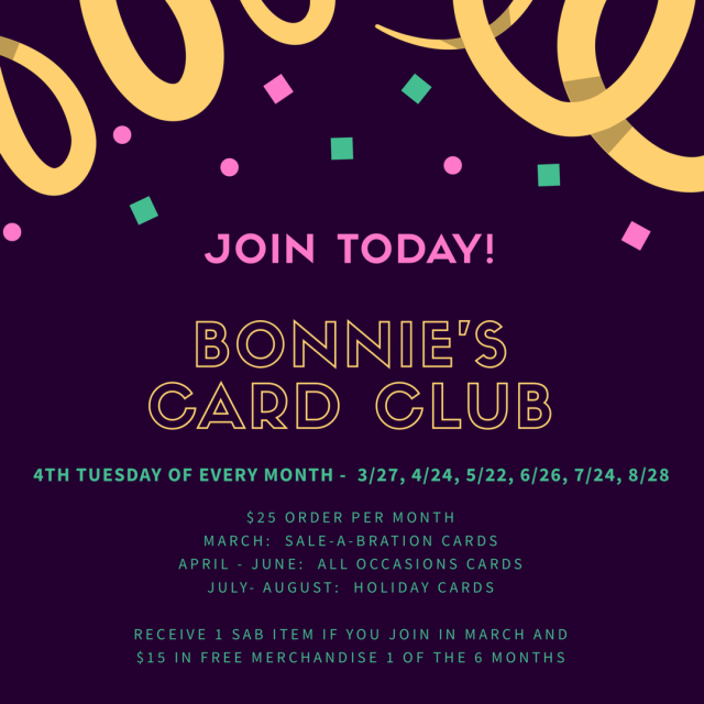 #cardclub #joinnow #bonniestamped