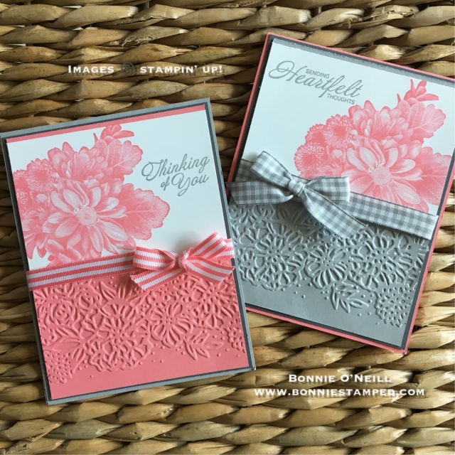 #heartfeltblooms #stampinup #bonniestamped #saleabration #petalpair #occasions2018