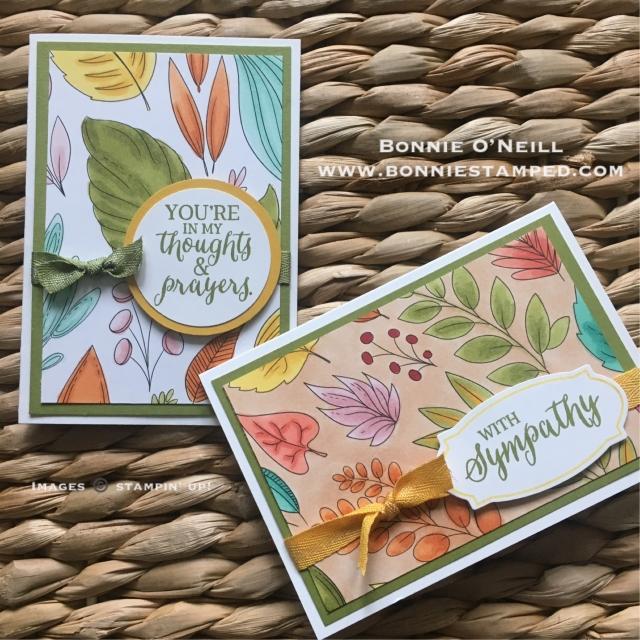 #leafprint #justaddcolor #bonniestamped #blends #stampinup