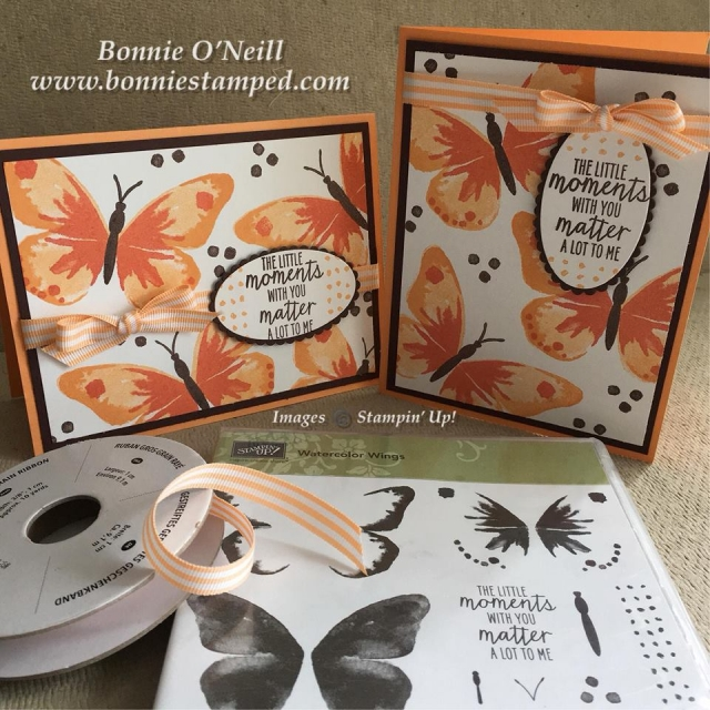 #watercolorwings, #bonniestamped, #stampinup, #retiring colors