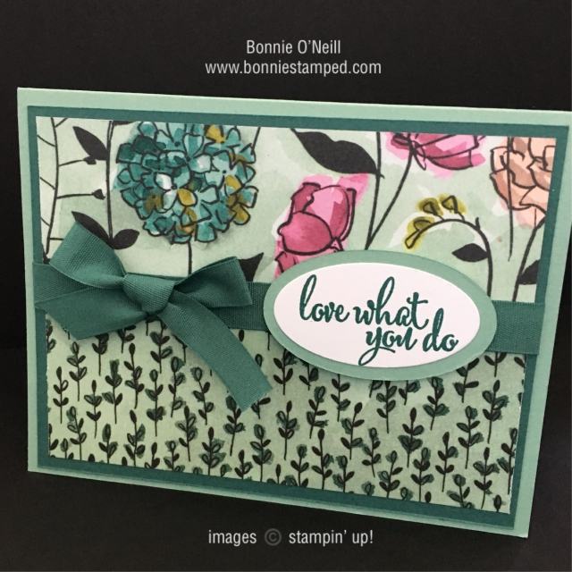 #sharewhatyoulove #lovewhatyoudo #stampinup #bonniestamped
