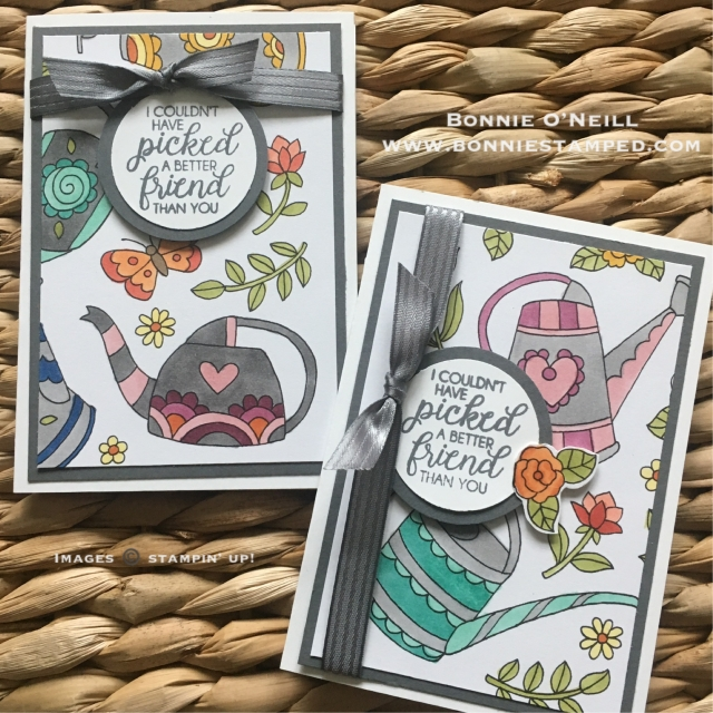 #flowers #watercan #beautifulbunches #stampinup #bonniestamped #blends