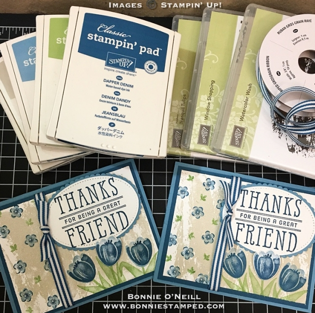 #tranquiltulips #bonniestamped #stampinup