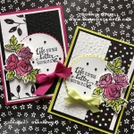 Last card with Petal Passion Designer Series Paper