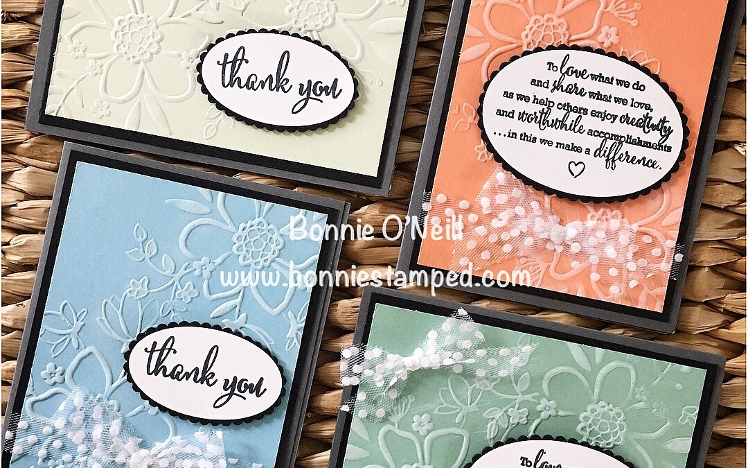 White Ink with the Lovely Floral Embossing Folder