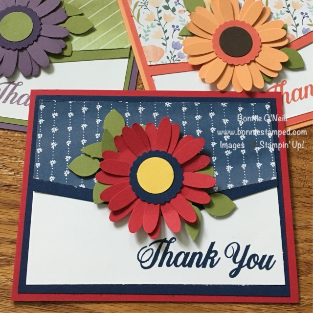 #daisydelight #stampinup #bonniestamped #daisy #thankyou #delightfuldaisydsp