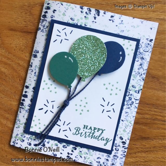 #happybirthday #trifoldcard #bonniestamped #stampinup