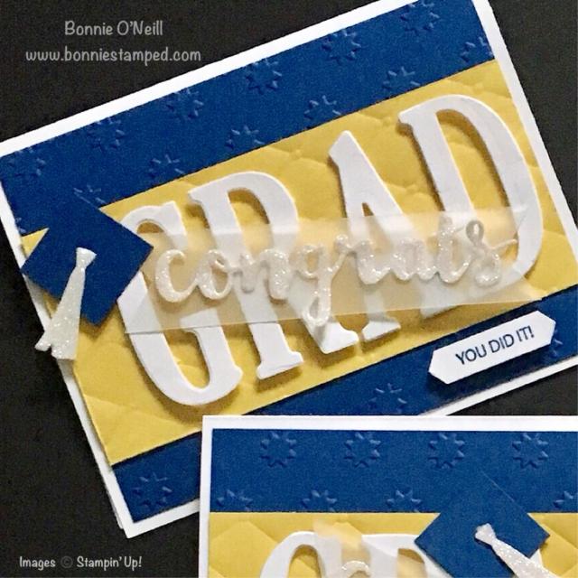 #bonniestamped #graduationcards #stampinup