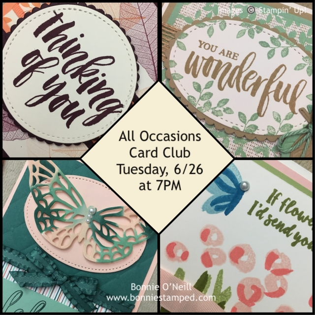 #alloccasions #cardclub #bonniestamped #stampinup