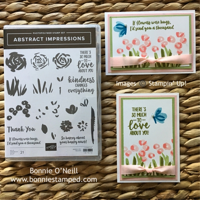 #abstractimpressions #bonniestamp #stampinup