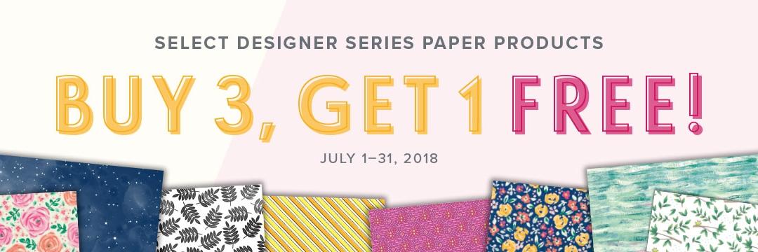 Buy 3 Get 1 Free Designer Series Paper