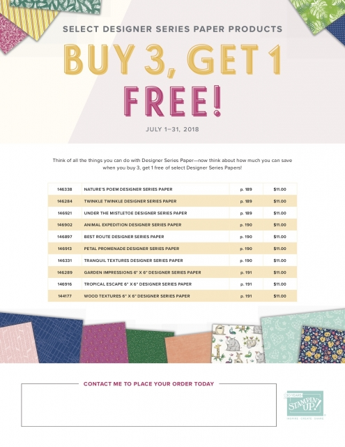 #dsp #sale #buy3get1free #stampinup #bonniestamped