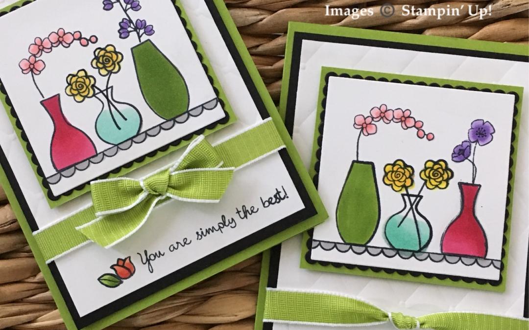 Stampin' Blends with Varied Vases Stamp Set