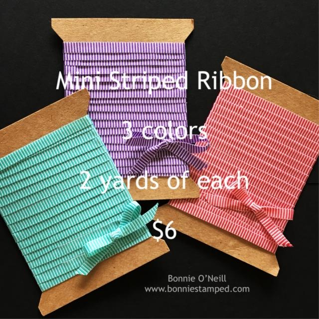 #ministripedribbon #stmapinup #bonniestamped #ribbonsplits