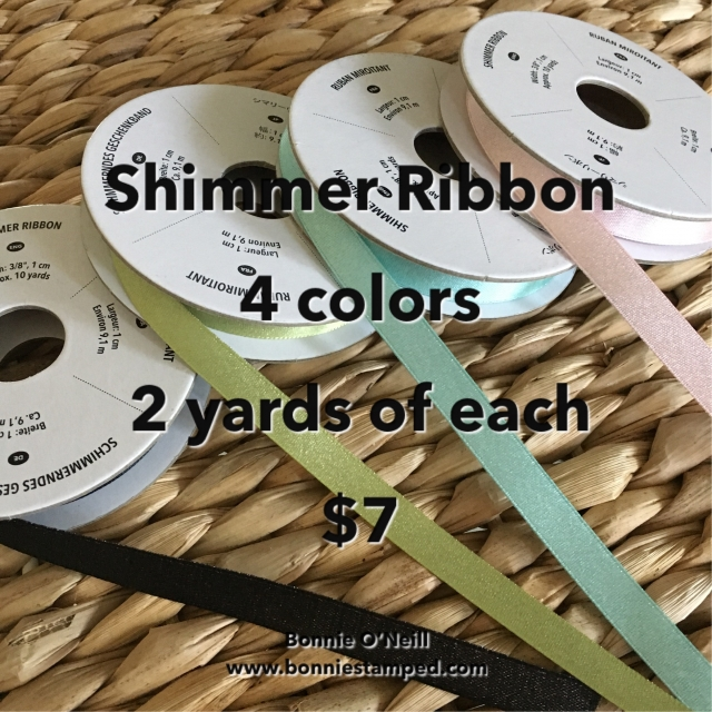 #shimmerribbon #bonniestamped #stampinup #ribbonsplit