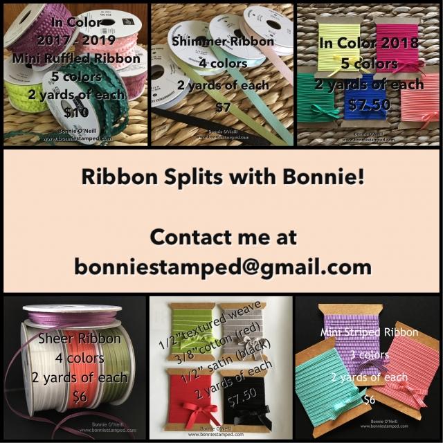 #ribbonsplits #bonniestamped #stampinup