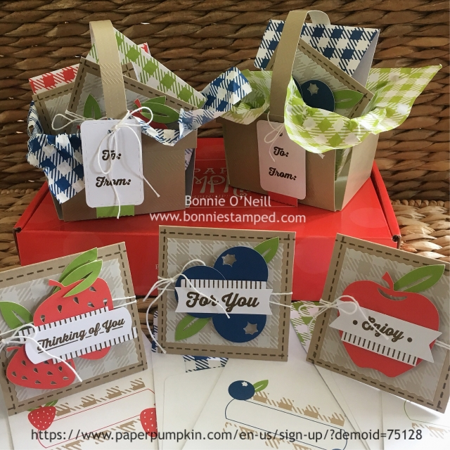 #paperpumpkin #picnicparade #monthlykits #bonniestamped
