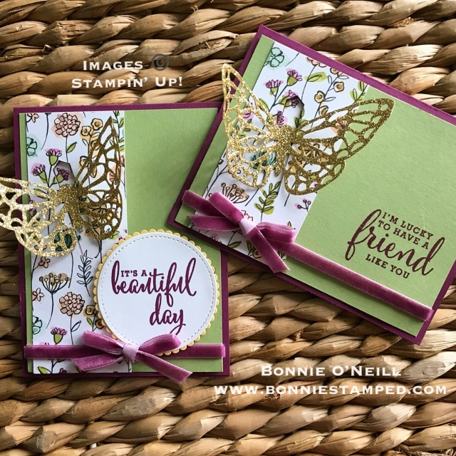 #lovewhatIdo #bonniestamped #stampinup #createwithbonnie #springtimeimpressions #glimmer